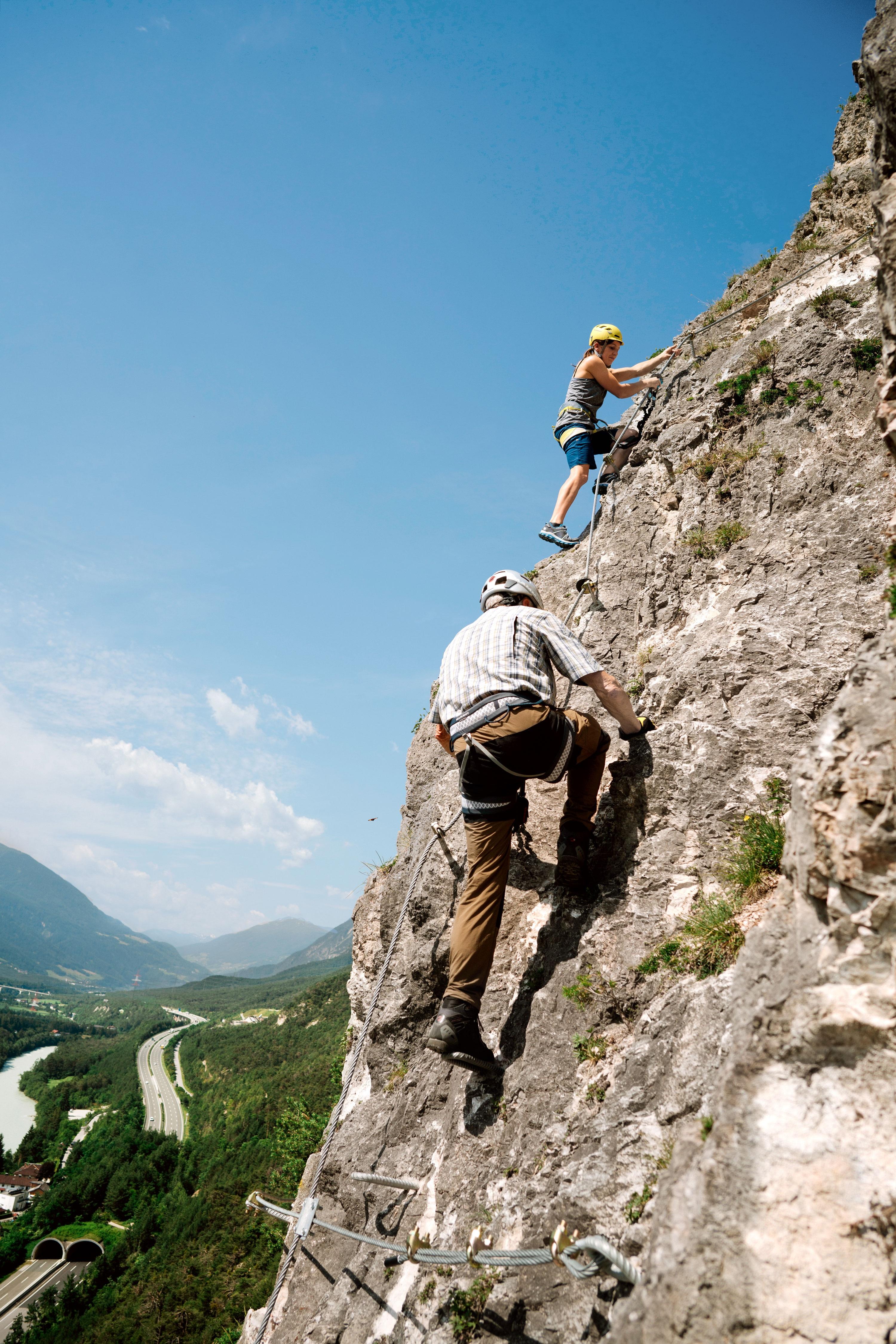 Klettersteig Geierwand : Check der geierwand klettersteig c bergwelten