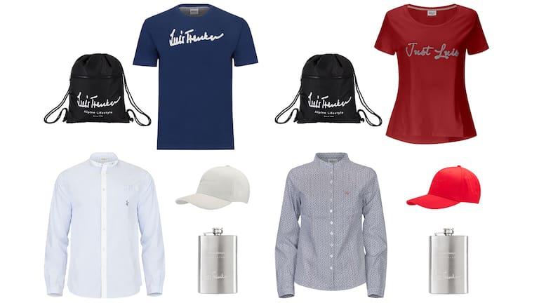 Die Luis Trenker Wanderpakete: links für Herren, rechts für Damen.