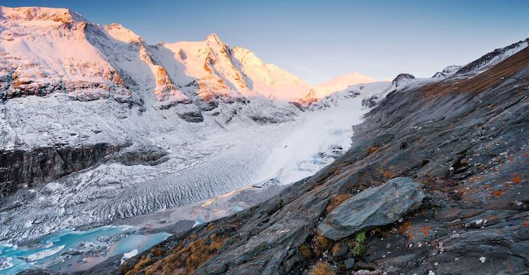 8 große Alpengletscher