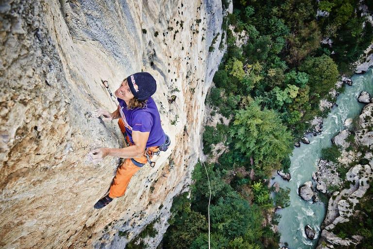 Stefan Glowacz klettert in der Verdonschlucht