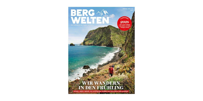 Cover des Bergwelten Magazins (Februar/März 2018)