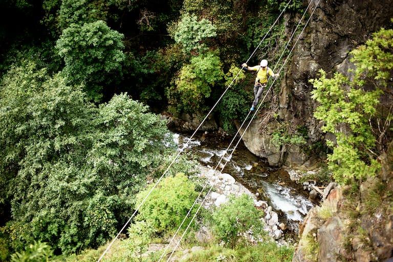 Hoachwool Klettersteig Schlucht