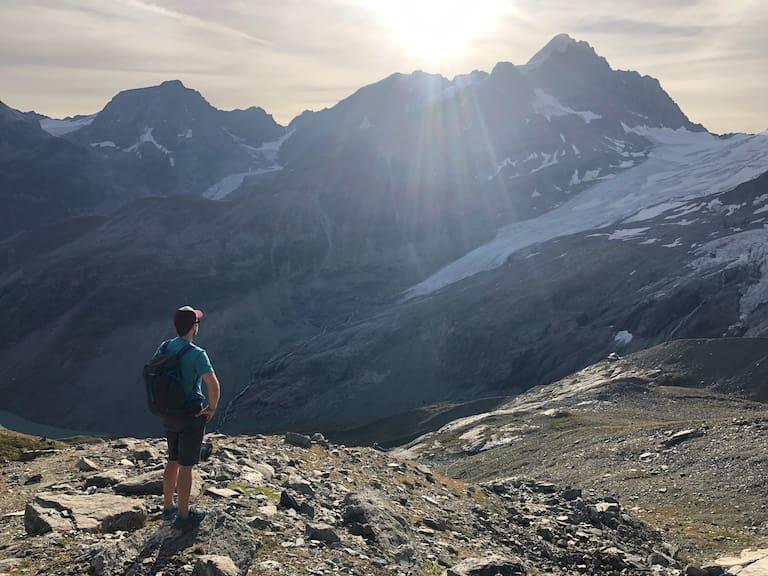 Epische Ausblicke auf den Roseg-Gletscher im Engadin