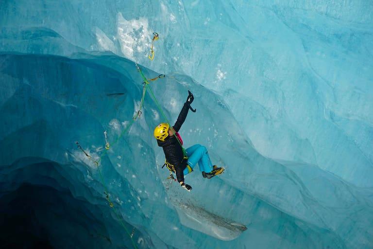 Angelika Rainer träumt gerade vom Eisklettern in Island