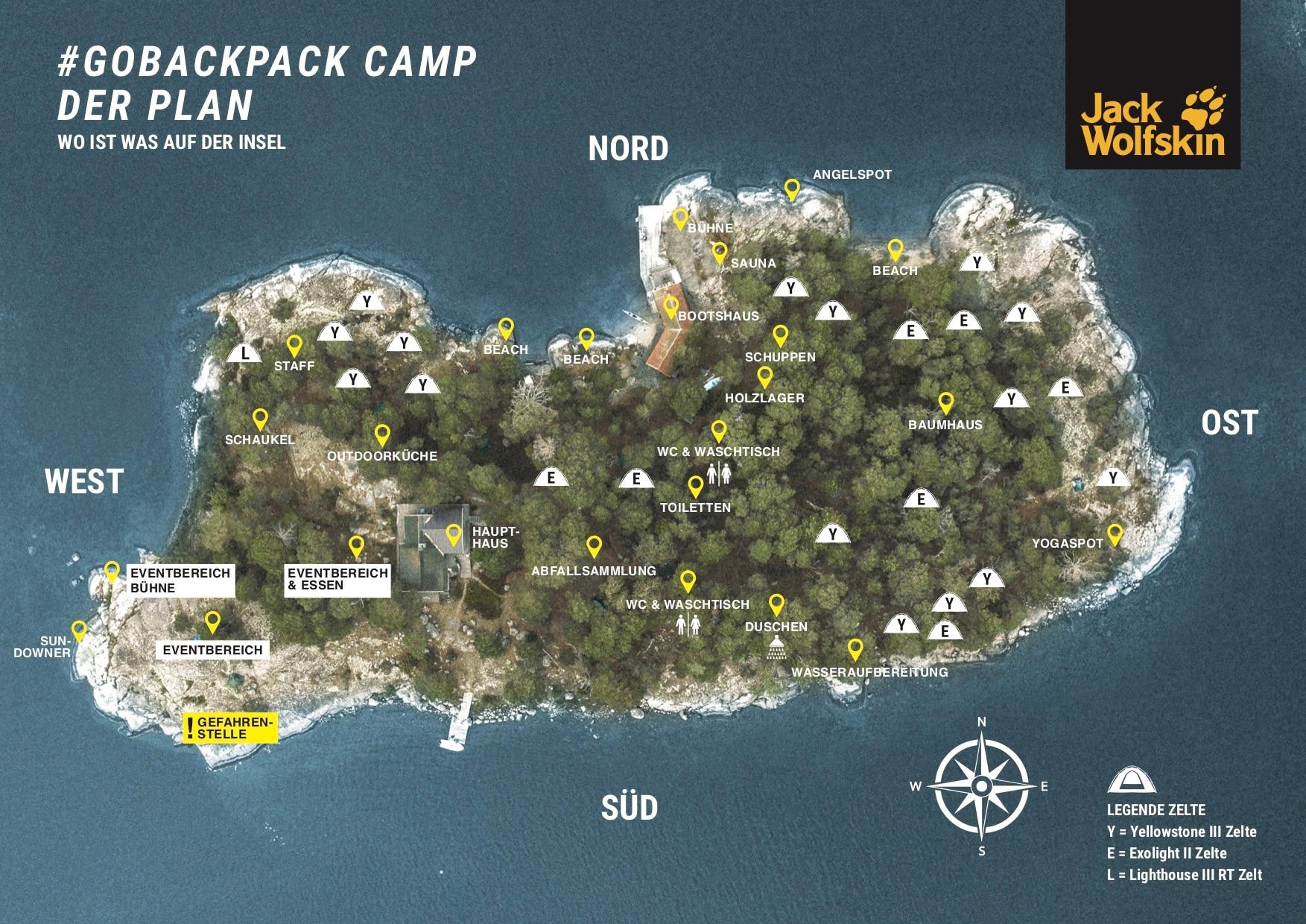 GOBACKPACK CAMP: Alles rund um das Outdoor Abenteuer des