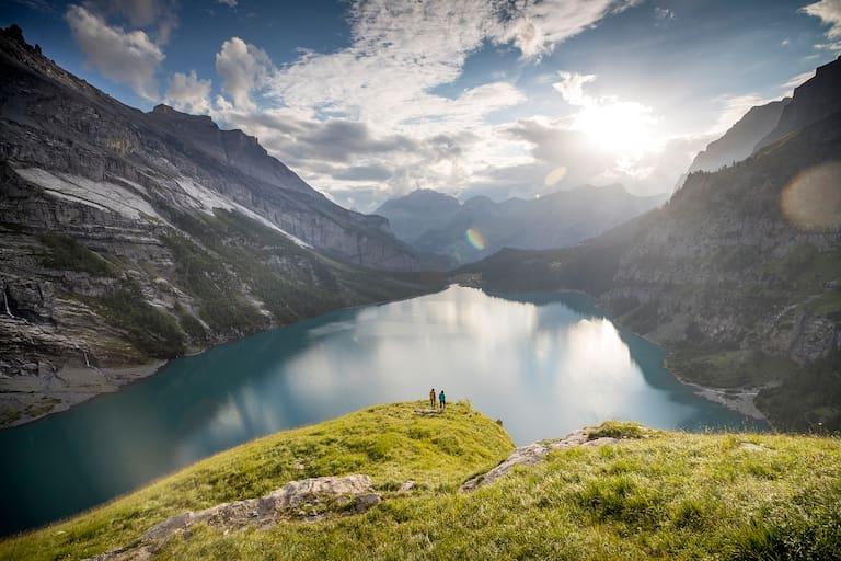 Traumhafter Blick auf den Öschinensee (1.596 m)
