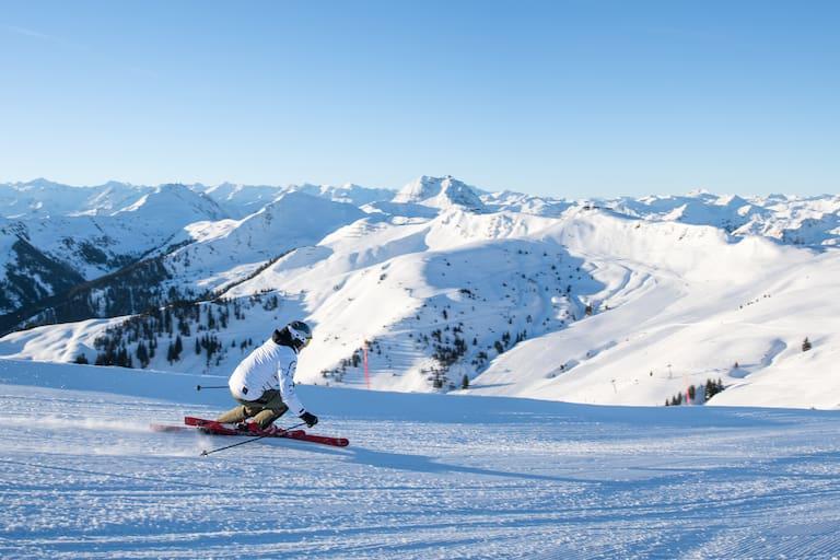 Skifahren im Gebiet KitzSki