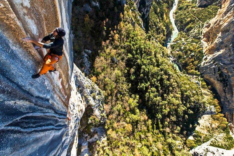 Stefan Glowacz beim Klettern in Verdon