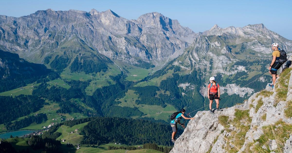 Klettersteig Engelberg : Der brunnistöckli klettersteig b bei engelberg bergwelten