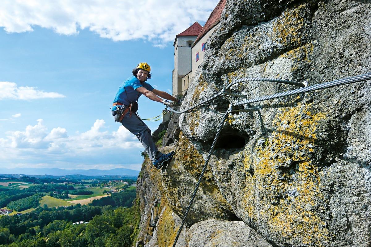Klettersteig Oberösterreich : 7 klettersteige für anfänger in den alpen bergwelten