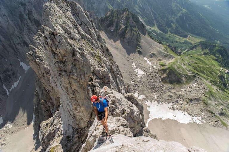 Alpine Genusskletterei vor traumhafter Kulisse: Der Kopftörlgrat im Wilden Kaiser