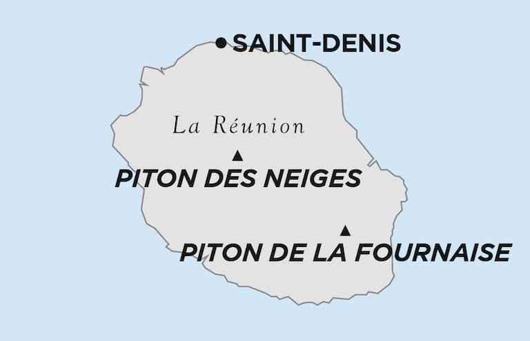 La Réunion Karte
