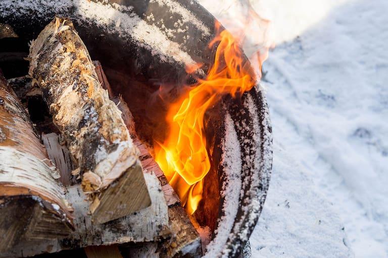 Campen im Winter