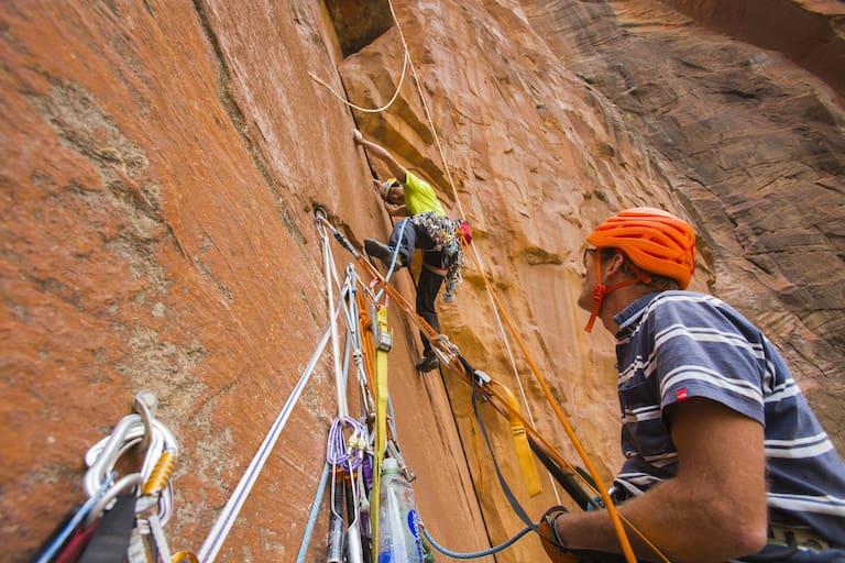 David Lama und Conrad Anker klettern im Zion National Park 2015