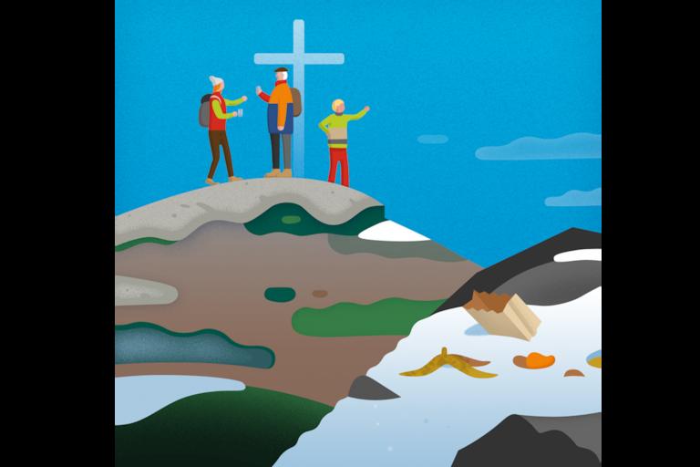 Verhalten am Gipfel