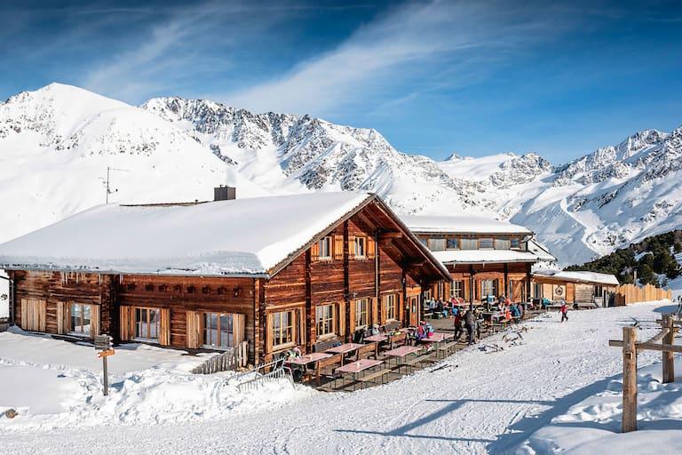 Die Südtiroler Berghütte Maseben in den Ötztaler Alpen