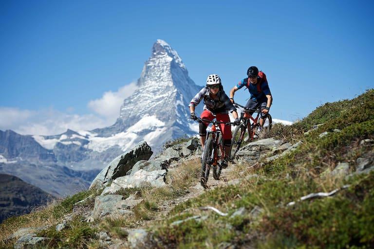 Mountainbiken Zermatt Matterhorn