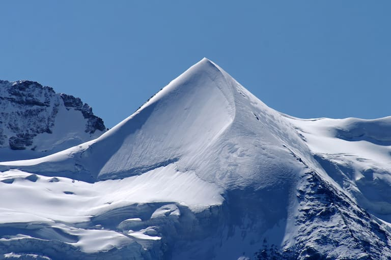 Das Silberhorn (3.695 m), Schmuckstück des Jungfrau-Gletschers