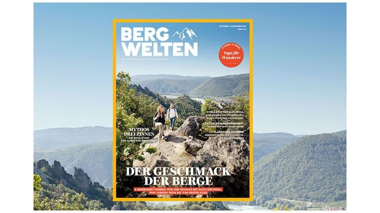 Wandern in der Wachau: Cover des Bergwelten Magazins (Oktober/November 2017)