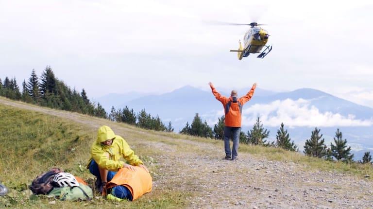 Notfall Mountainbike-Unfall am Berg