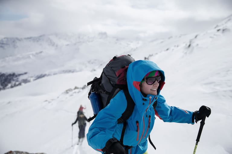 Gerti Ring in den Graubündner Alpen