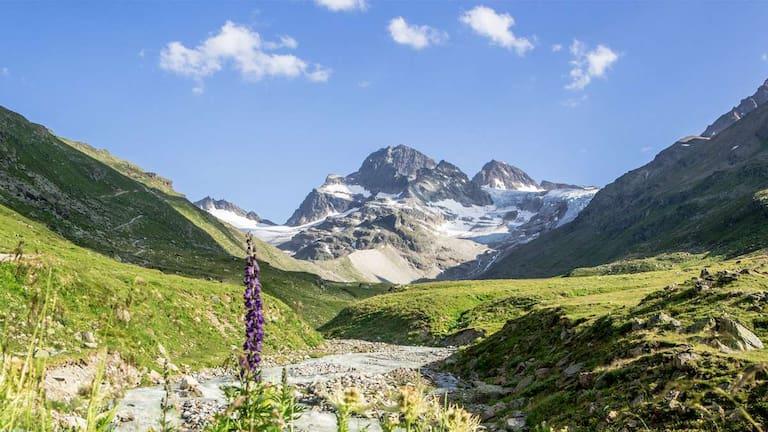 Der höchste Berg Vorarlbergs, der Piz Buin Grond (3.312 m)