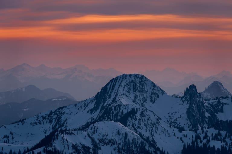 Die Gipfel des Risserkogels, Plankensteins & Buchsteins