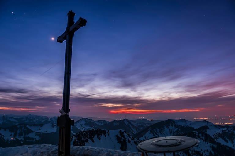 Das Gipfelkreuz der Rotwand