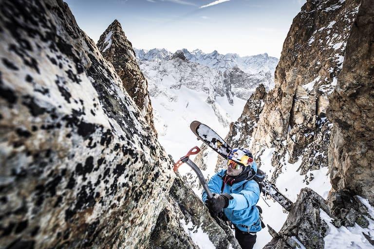 Andrzej Bargiel in La Grave beim Bergsteigen