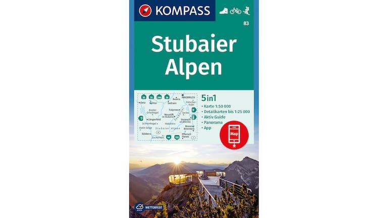 Die passende Wanderkarte zur Tour dazu: Stubaier Alpen WK 83