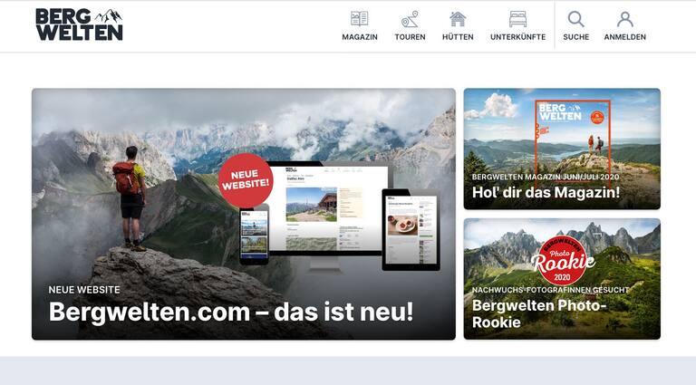 Bergwelten.com neue Webseite