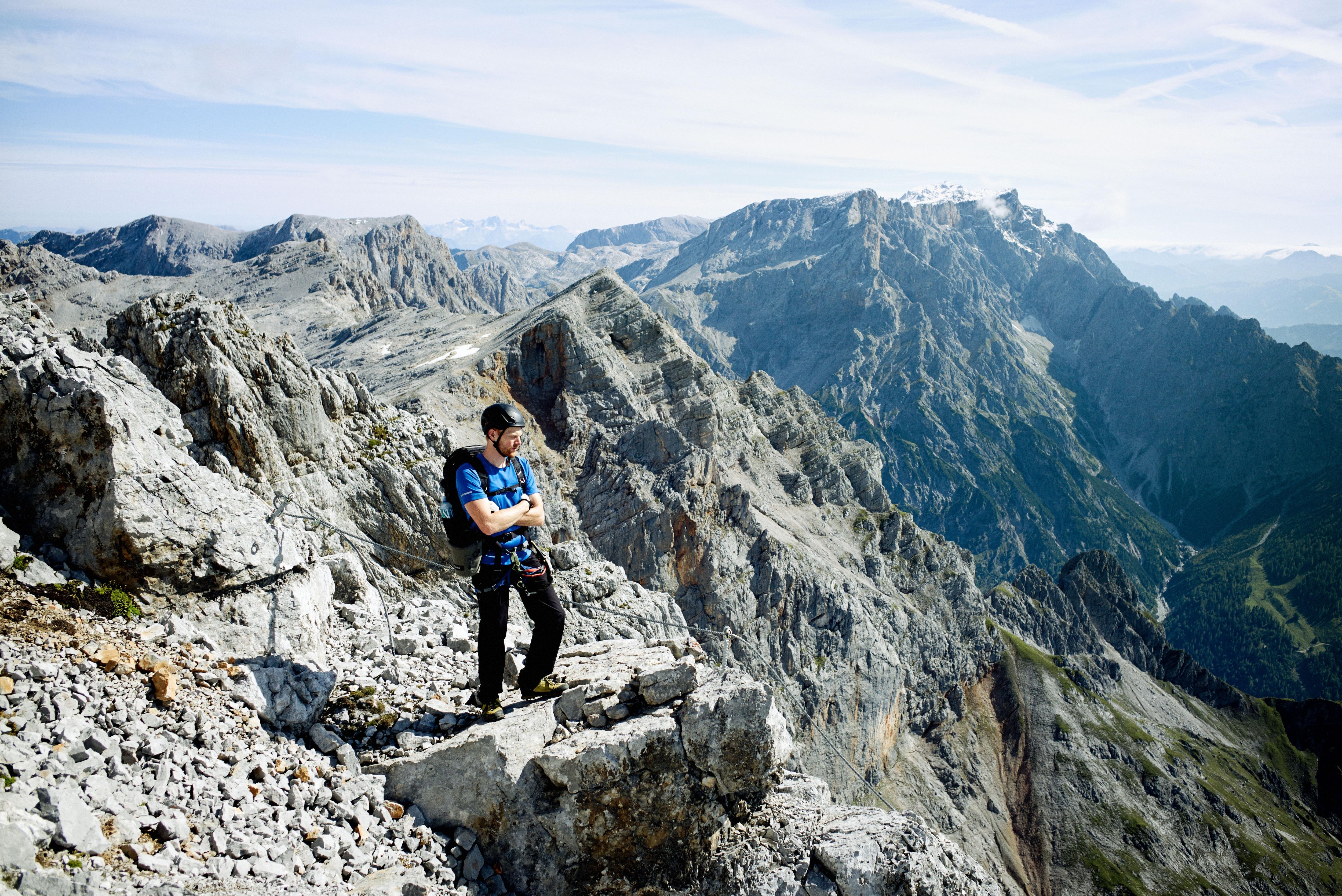 Klettersteig Hochkönig : Königsjodler klettersteig bergsteigen