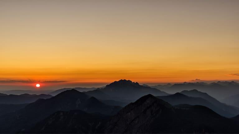 Herzogstand Sonnenuntergang