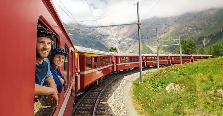 Perfektes Wochenende: Durchs Schweizer Oberengadin mit Bahn und Bike