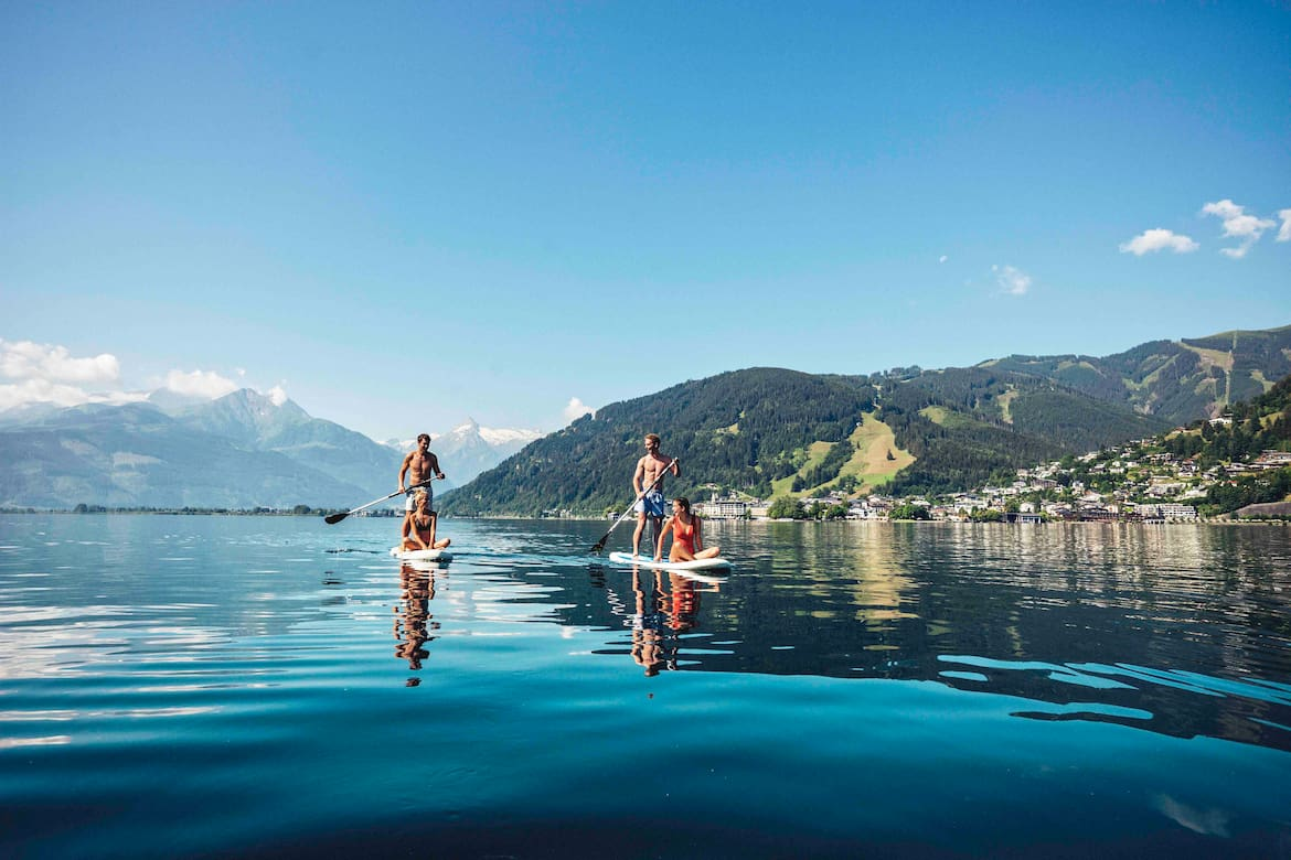 Stand-up-Paddling am Zeller See