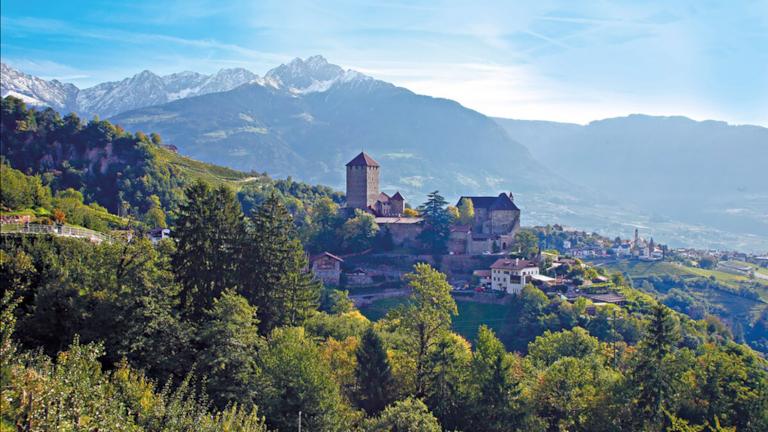 Der Tappeinerweg zum Schloss Tirol ist der Klassiker unter den Meraner Spazierwegen.