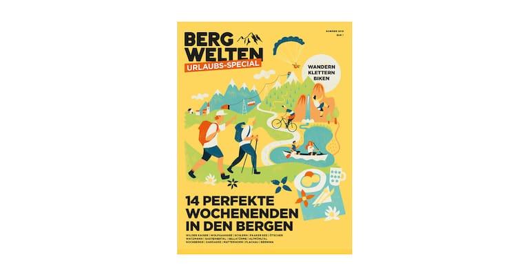 Cover des Bergwelten Urlaubs-Specials Sommer 2018