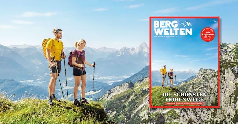 Cover des Bergwelten Magazins (April/Mai 2018)