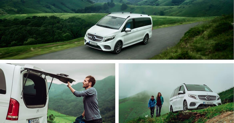 Smart und komfortabel unterwegs mit der V-Klasse von Mercedes-Benz.