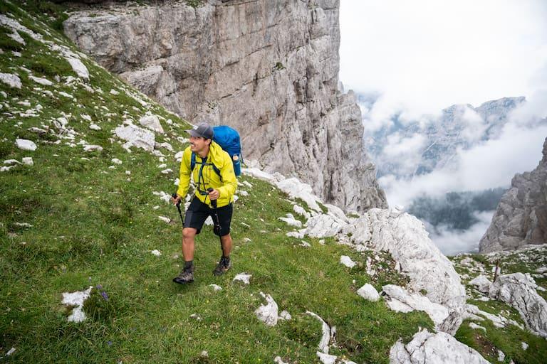 Ernst Merkinger wandert weit Dolomiten Höhenweg