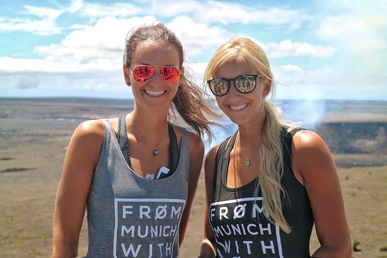 Maggy und Anja im Hawaii Volcanoes-Nationalpark
