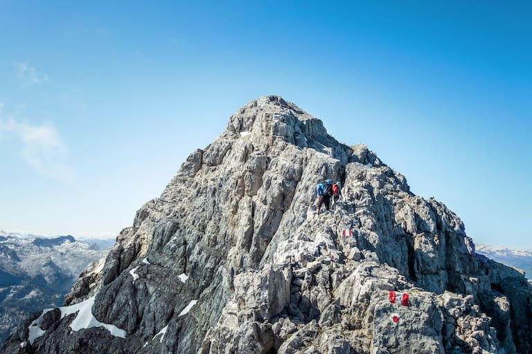 Bergsteiger bei einer Watzmannüberschreitung