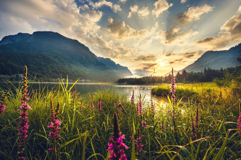 """Der Weitsee ist einer der drei Seen in """"Klein-Kanada""""."""