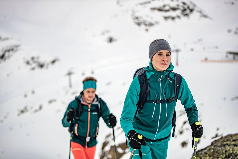 Gut ausgerüstet ist man mit der neuen, hochfunktionellen und modischen LÖFFLER Skitourenkollektion.