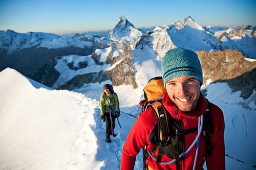 Bergführer Alberto De Giuli auf Tour