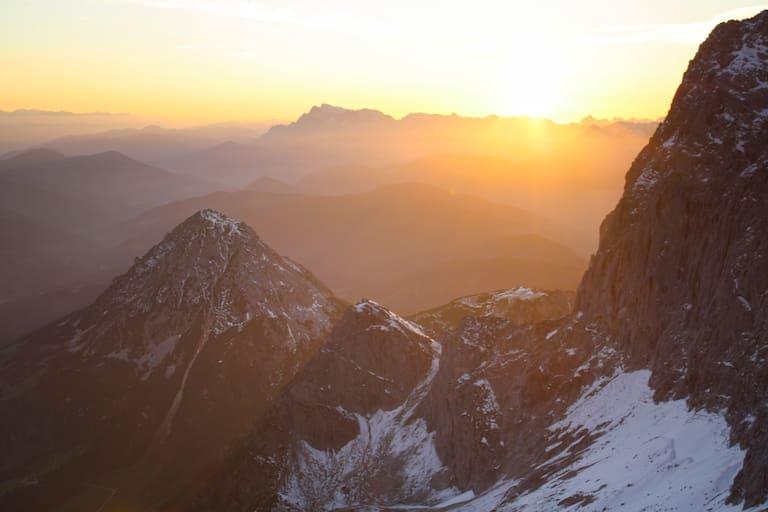 Alpen: Sonnenuntergang