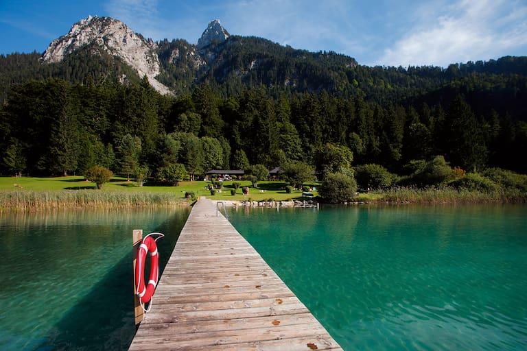 Alpseebad im bayerischen Allgäu