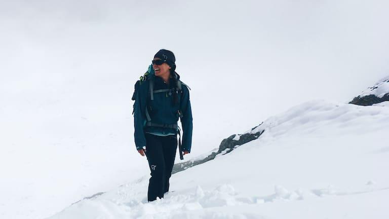 Alpenüberquerung: Ana Zirner in Graubünden