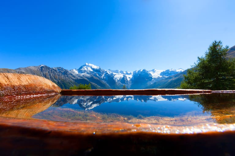 Archaikweg in Südtirol: Blick in die Ortlergruppe