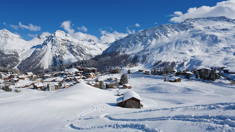 Arosa im Winter: Plessur-Alpen